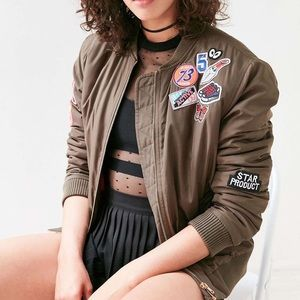 Urban Outfitters | Glamorous Brown Bomber Jacket